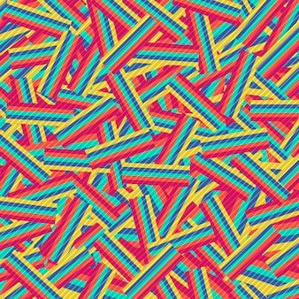 Linha listra colorida abstrata fundo da arte finala do projeto do teste padrão do retângulo.