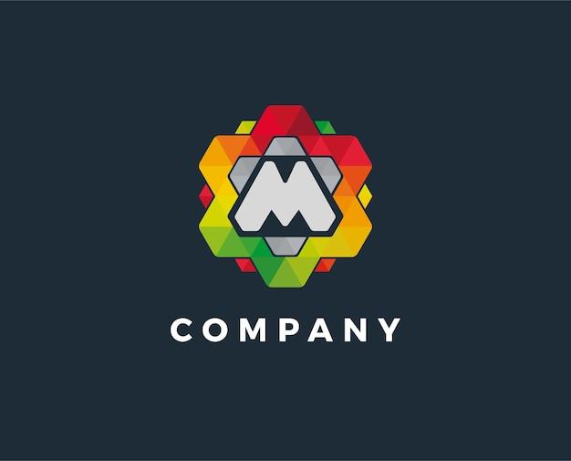 Linha m de design de logotipo linear criativo mínimo monocromático símbolo de monograma design universal elegante de sinal de vetor logotipo de negócios premium símbolo gráfico do alfabeto para identidade corporativa