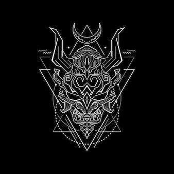 Linha mascarada de geometria
