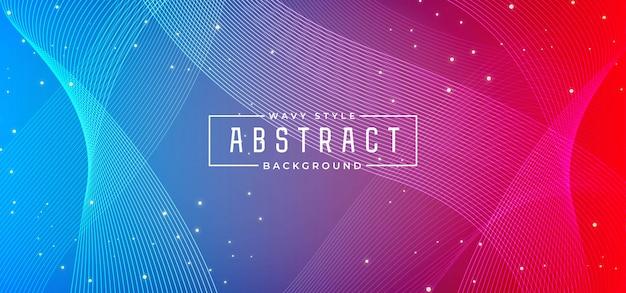 Linha onda abstrata fundo colorido