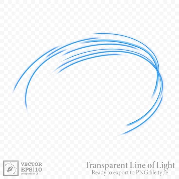 Linha ondulada azul transparente