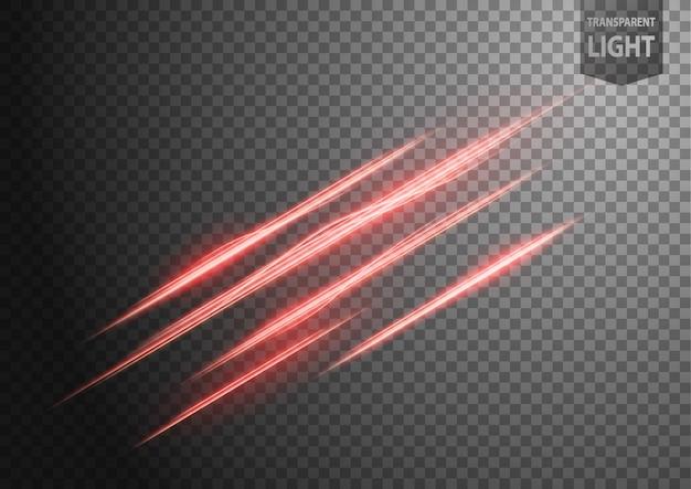 Linha ondulada vermelha abstrata de luz