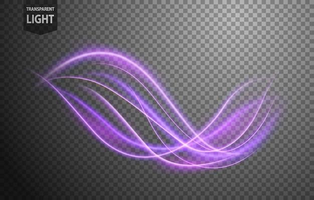 Linha ondulada violeta abstrata de luz