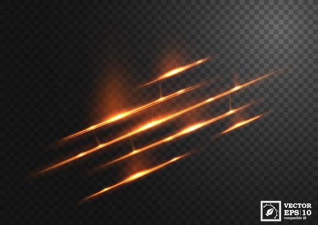 Linha ouro abstrata de luz