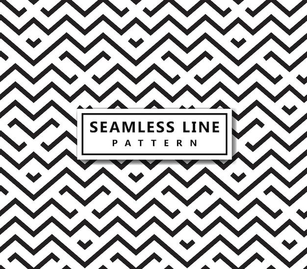 Linha padrão geométrico. vetor sem costura de fundo. textura preta.