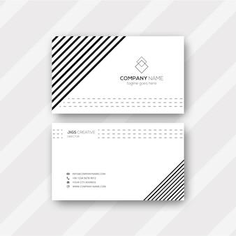 Linha padrão preto e branco cartão de visita