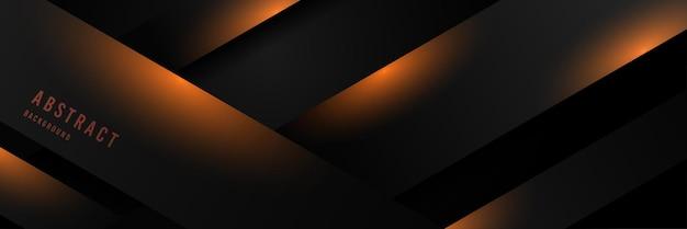 Linha preta de tecnologia abstrata de estilo sólido e luxuoso
