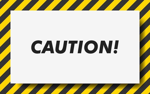 Linha preta e amarela listrada. fita de advertência. fundo de aviso em branco.