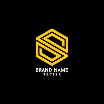 Linha s symbol line art tipografia logo design