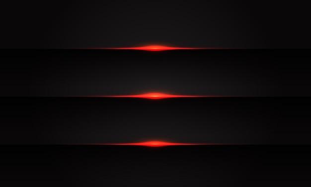 Linha vermelha abstrata luz no fundo futurista de tecnologia futurista de sombra preta.