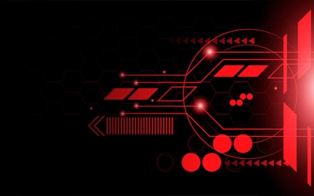 Linha vermelha abstrata tecnologia fundo