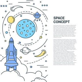 Linha vertical art concept do espaço
