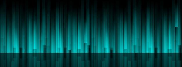 Linhas abstraem base de luz turquesa