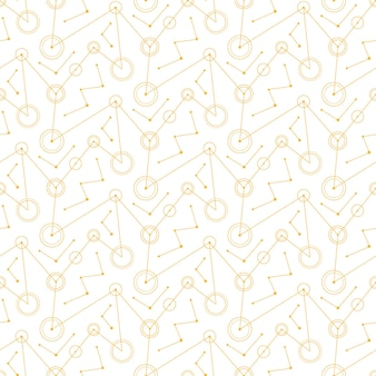 Linhas abstratas de círculos mecânicos brancos. padrão sem emenda.