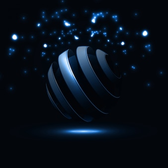 Linhas abstratas de esfera espiral