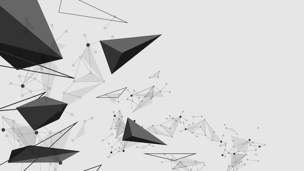 Linhas abstratas de explosão preta. fundo de vector de conceito de comunicação de tecnologia