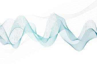 Linhas abstratas em um fundo branco. Arte de linha. copie o espaço