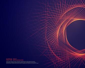 Linhas abstratas, formando o fundo de forma tunner