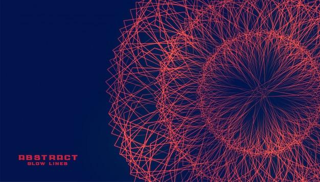 Linhas abstratas malha explosão design de plano de fundo fractal