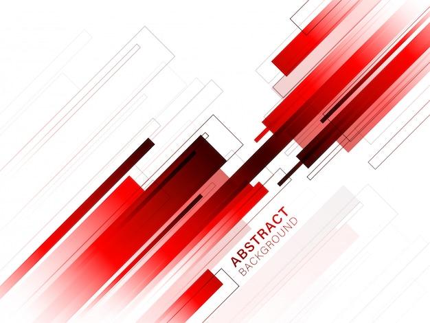 Linhas abstratas vermelhas e brancas ou fundo de tira.