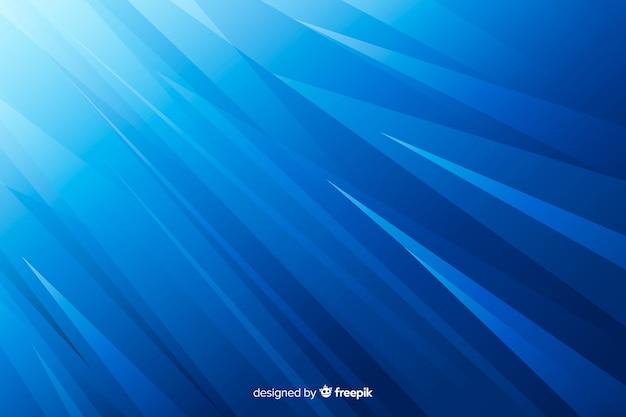 Linhas afiadas gradientes abstraem fundo azul