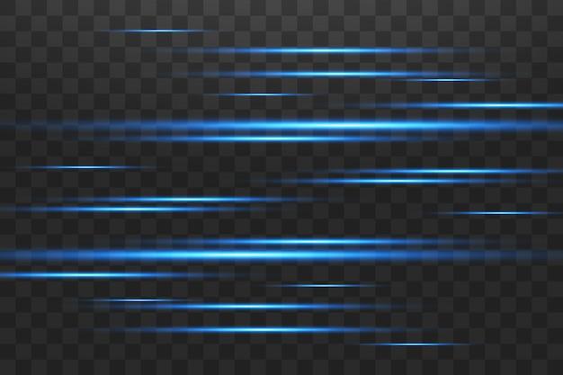 Linhas brilhantes abstratas em azul luminoso