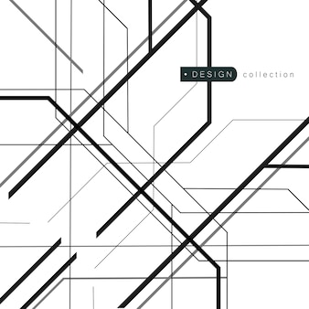 Linhas caóticas aleatórias com textura geométrica abstrata