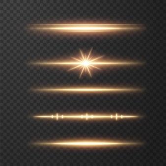 Linhas claras e realistas. efeito de brilho dourado cintilante.