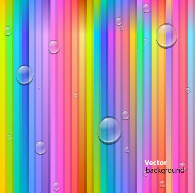 Linhas coloridas sem costura abstratas e fundo de gotas Vetor grátis