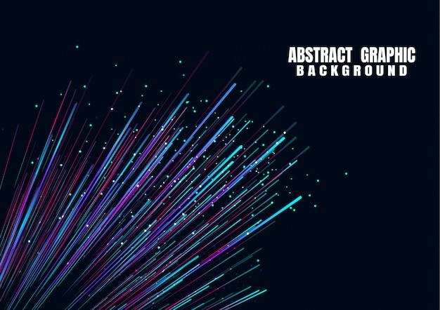 Linhas compostas de brilhantes, fundos de fibra ótica
