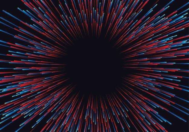 Linhas compostas de fundos brilhantes, fluxo de dados abstratos