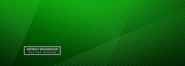 Linhas criativas verdes elegantes cabeçalho modelo fundo