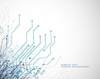 Linhas de circuito de rede de tecnologia abstraem base