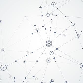 Linhas de conexão de vetor e pontos
