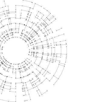 Linhas de conexão e pontos em branco