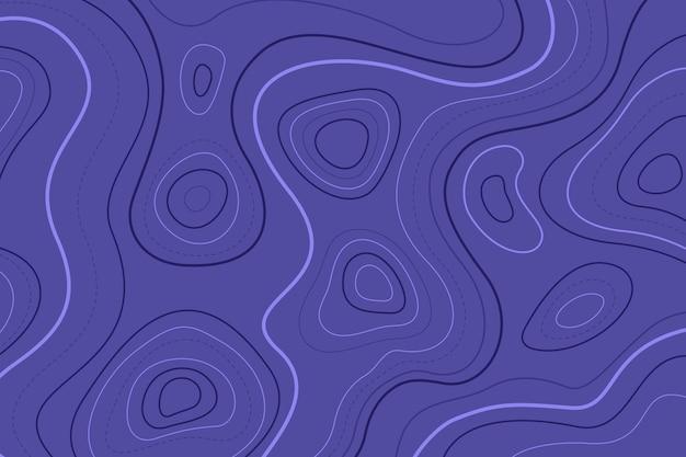 Linhas de contorno azul do mapa topográfico