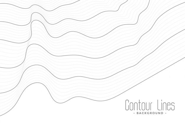 Linhas de contorno mínimas fundo da onda