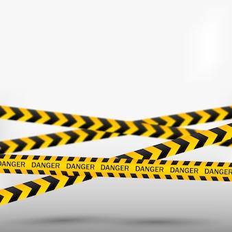 Linhas de cuidado isoladas. fitas de aviso. sinais de perigo ..