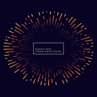 Linhas de design de vetor backgorund de fogo de artifício