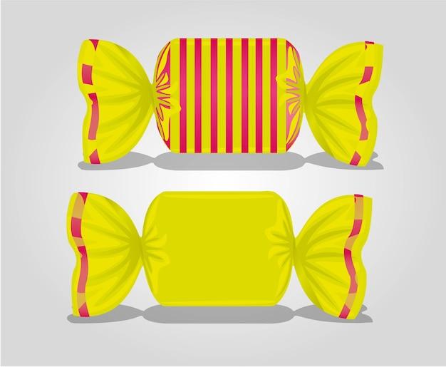 Linhas de embalagem coloridas quadradas doces