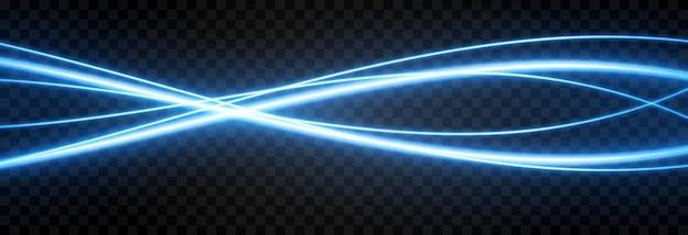Linhas de luz azul. brilho azul, luz mágica, luz de néon, néon apg. luz de fundo.