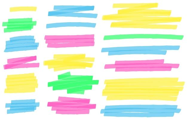 Linhas de marcador de destaque de cor