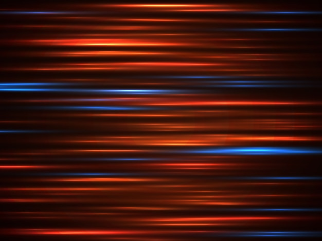 Linhas de movimento de luz de carro de velocidade em fundo escuro