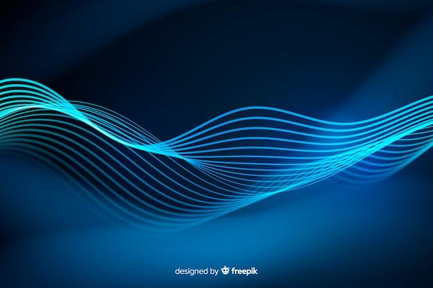 Linhas de néon abstrata de fundo