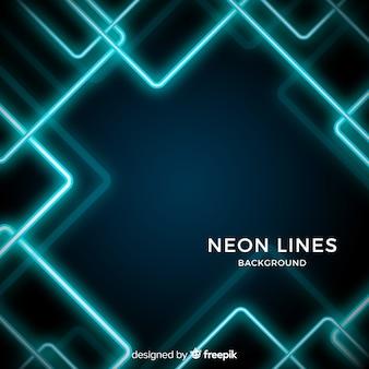 Linhas de néon abstratas fundo escuro