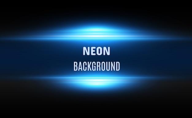 Linhas de néon brilhante sobre um fundo transparente. resumo digital.