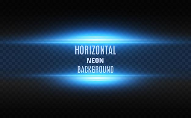 Linhas de néon brilhantes em um fundo transparente. design digital abstrato.