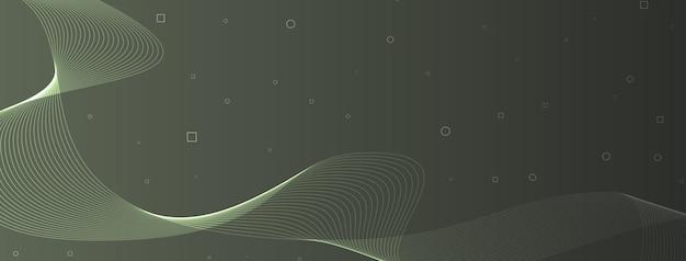 Linhas de onda elegantes e modernas, curvas, círculos abstratos, quadrados, celadon, gunmetal, cinza