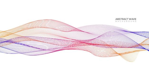 Linhas de ondas coloridas abstratas isoladas no fundo branco