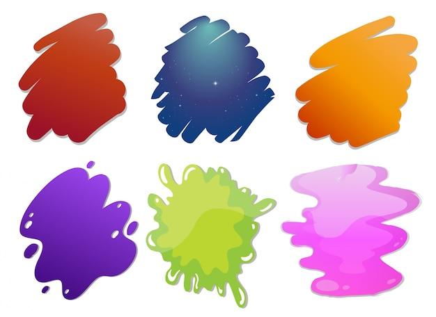 Linhas de ondas coloridas